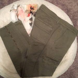 White House Black Market Olive Cargo Pants